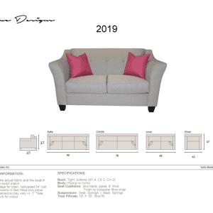 2019 Model  CUSTOM MADE: Sectional, Sofa, Condo, Love, Chair and a half, Chair