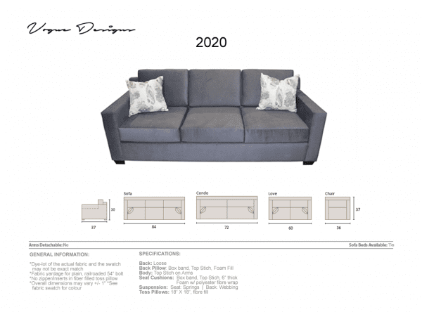 2020 grey upholstered sofa