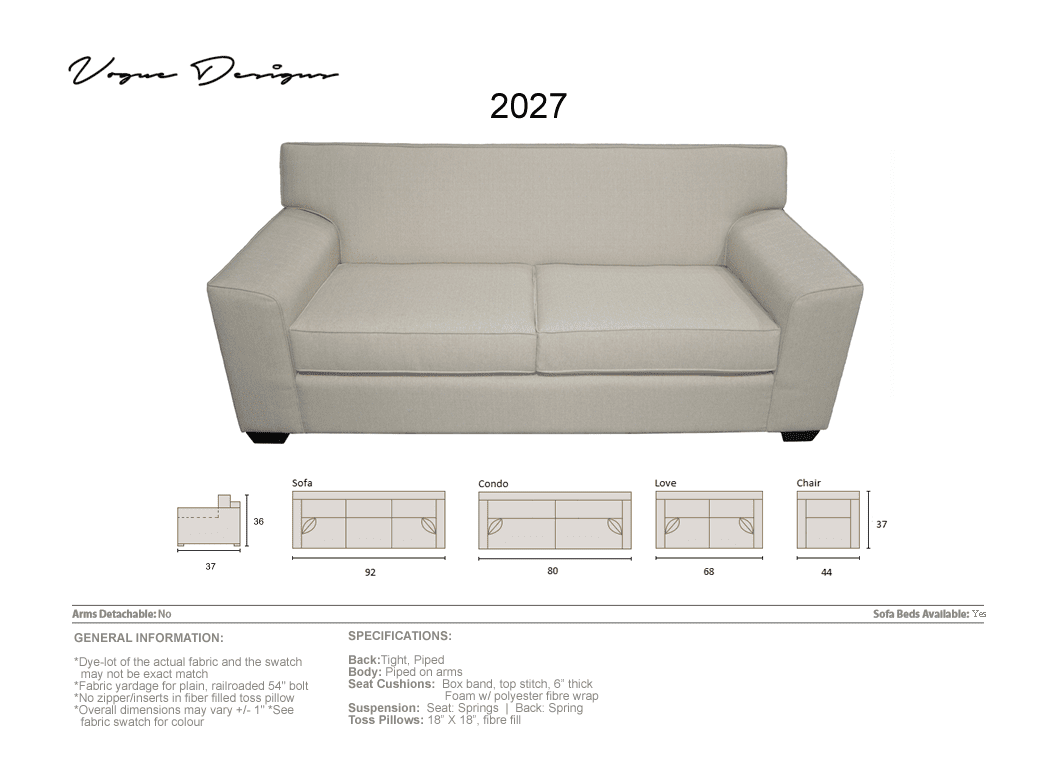 uk availability b4009 c3d54 2027 Model - CUSTOM MADE: Sectional, Sofa, Condo, Love, Chair and a half,  Chair