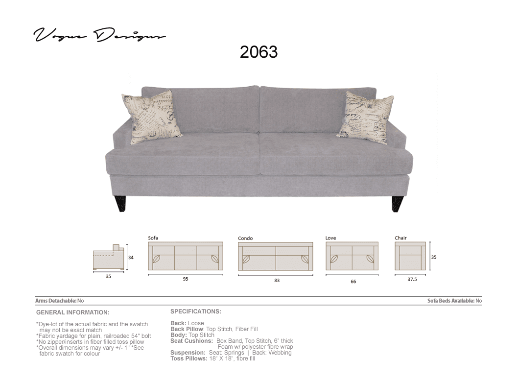 2063 Model Custom Made Sectional Sofa Condo Love