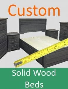 Custom solid wood beds