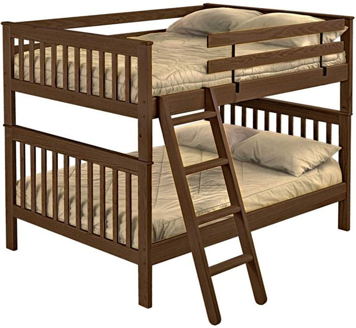 Queen Over Queen Mission Custom Bunk Beds L Furniture Kelowna