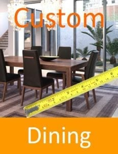 Real wood dining tables and chairs