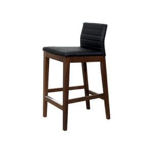 MAX counter height stool in solid birch or walnut. Hand made in Canada