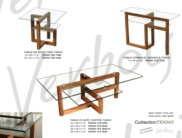 TEKNO TABLE compilation. Hand made in Canada