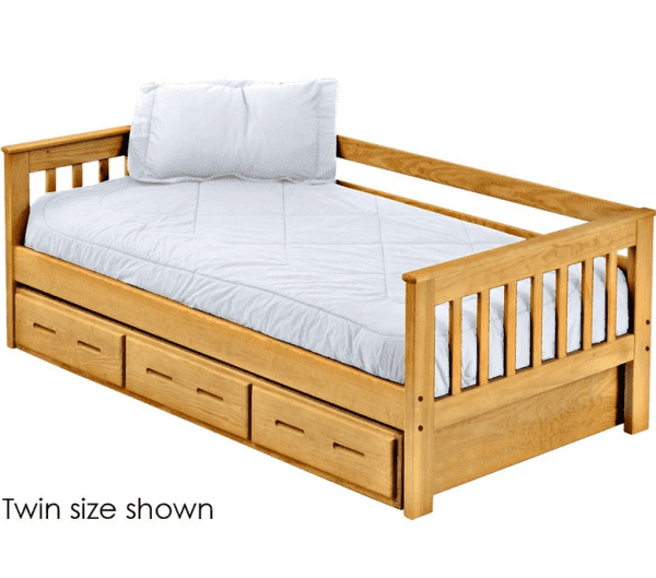 mission day bed with storage option