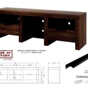 TV Stand - Hand made in Canada