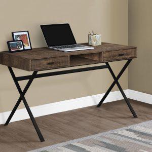"48"" Computer desk - Brown wood"