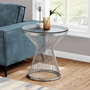 Q038 Stainless steel accent table