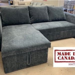 Made in Canada sleeper/storage sectional