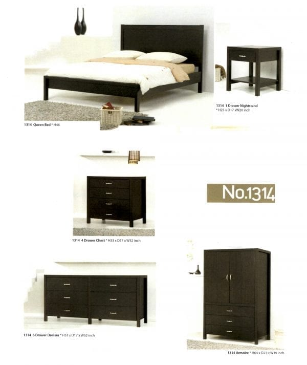 1314 maple wood bedroom set