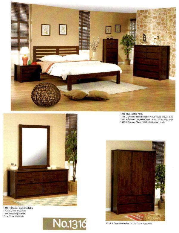 1316 maple wood bedroom set