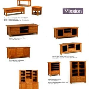 Mission solid maple wood furniture